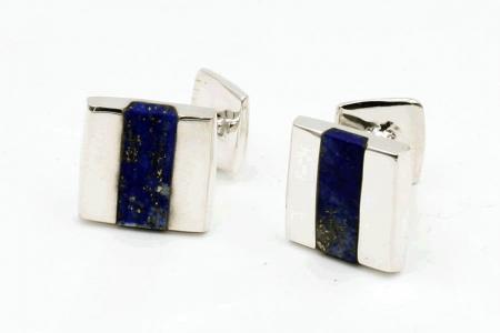 Squared lapis lazuli cufflinks