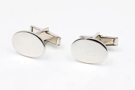 Plain blatant cufflinks (oval)