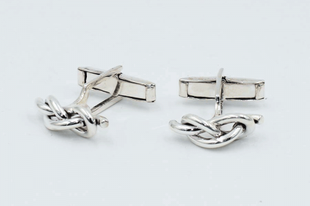 Knotted blatant cufflinks