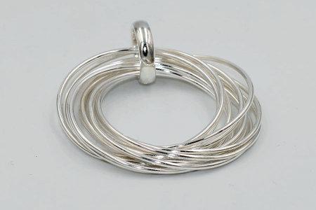 Pendant made of 12 plain hoops