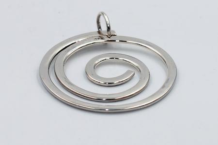 Spiral plain pendant