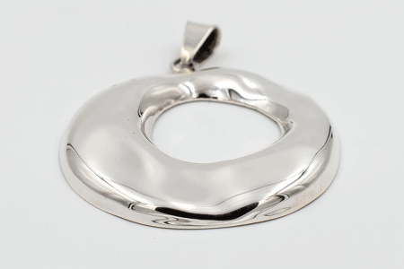 Irregular hoop pendant