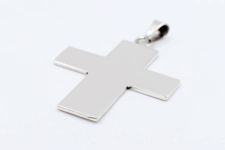 pendentif croix lisse plat...