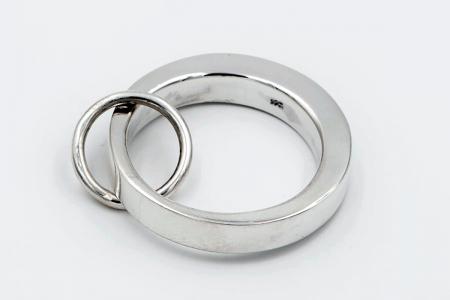 Soldered hoop pendant