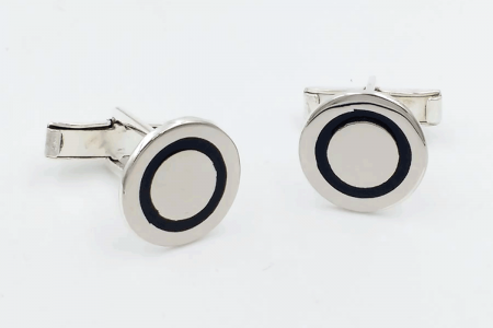 Plain rounded cufflinks...