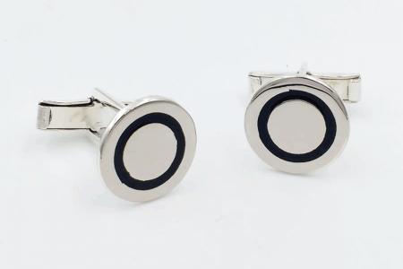 Plain rounded cufflinks...