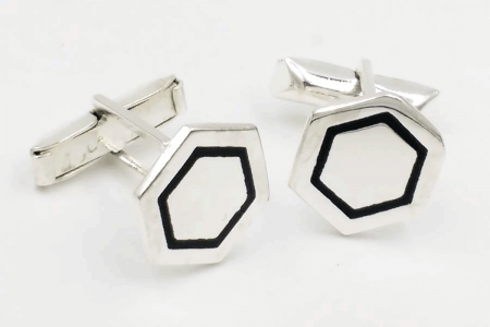 Hexagonal cufflinks