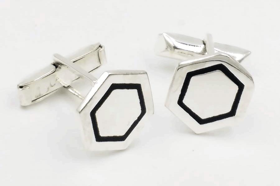 Hexagonal cufflinks