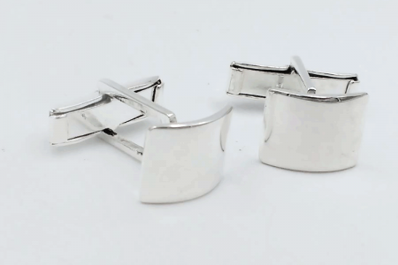 Plain rounded cufflinks