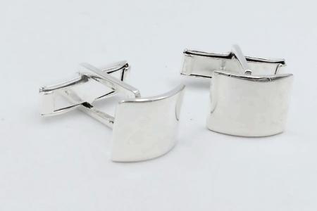 Plain rounded cufflinks