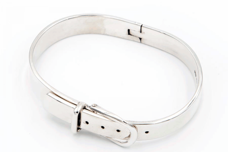 Wide belt bangle