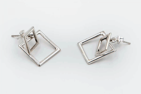 Plain squares earrings