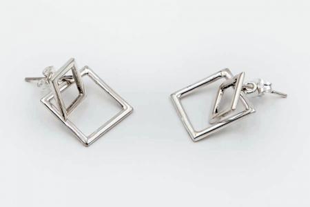 Plain squares earrings