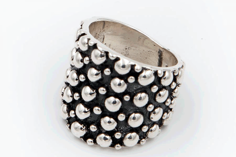 Distressed ring (beads)