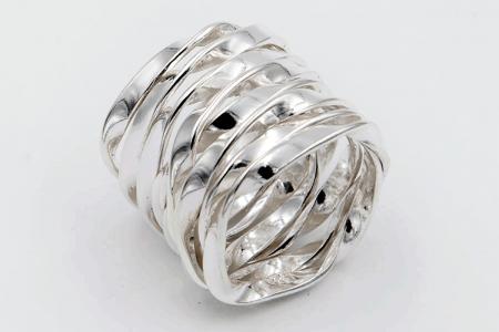 41c8f44e289f Anillo plata liso cordón entrelazado - PLATAMEX