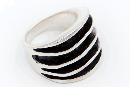 Distressed ring (5 stripes)